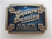 """SQUARE DANCING FUN FOR EVERYONE"" VINTAGE BELT BUCKLE"